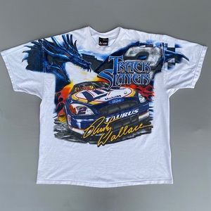 Vintage 90s Rusty Wallace Track Slayer T-Shirt
